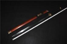 01525红木花纹钢四兽汉剑