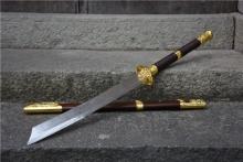 01620花梨木花纹战刀