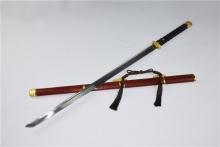 01688锰钢刻花锻打唐刀  外贸